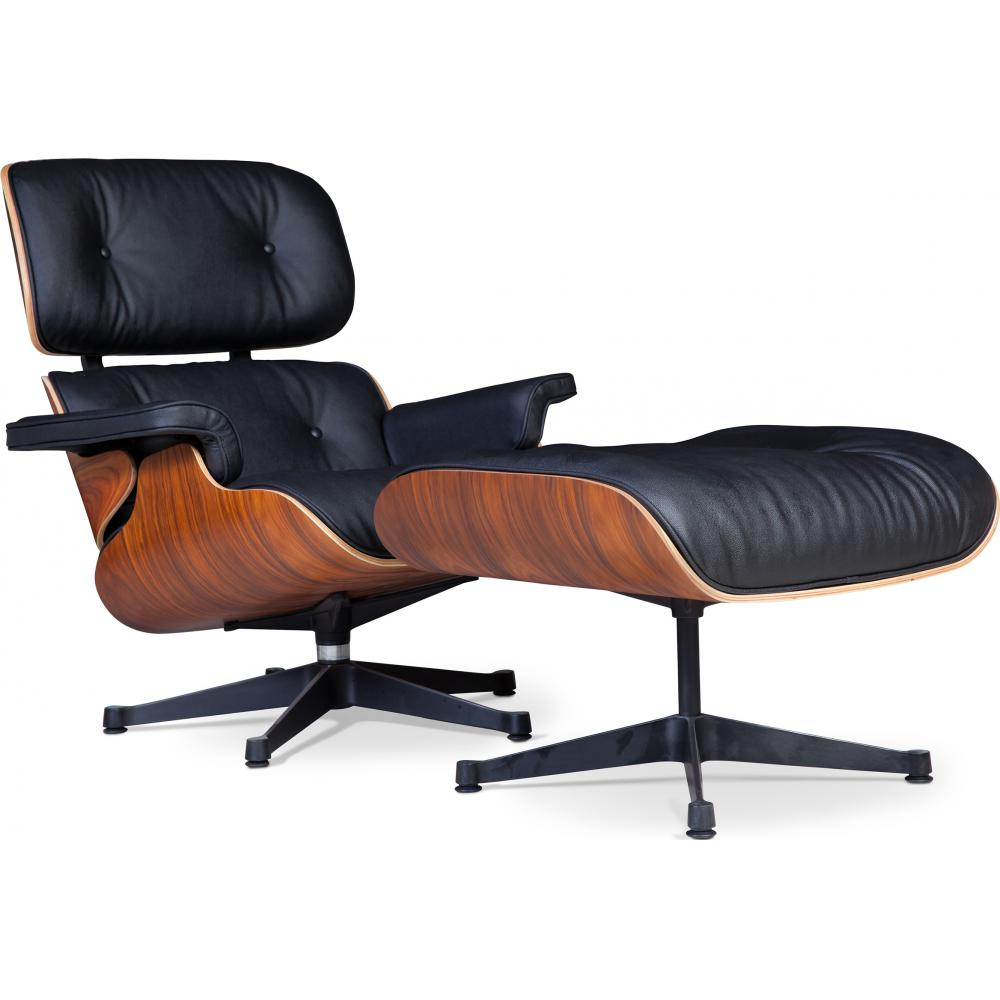 lounge chair ottoman charles eames style. Black Bedroom Furniture Sets. Home Design Ideas