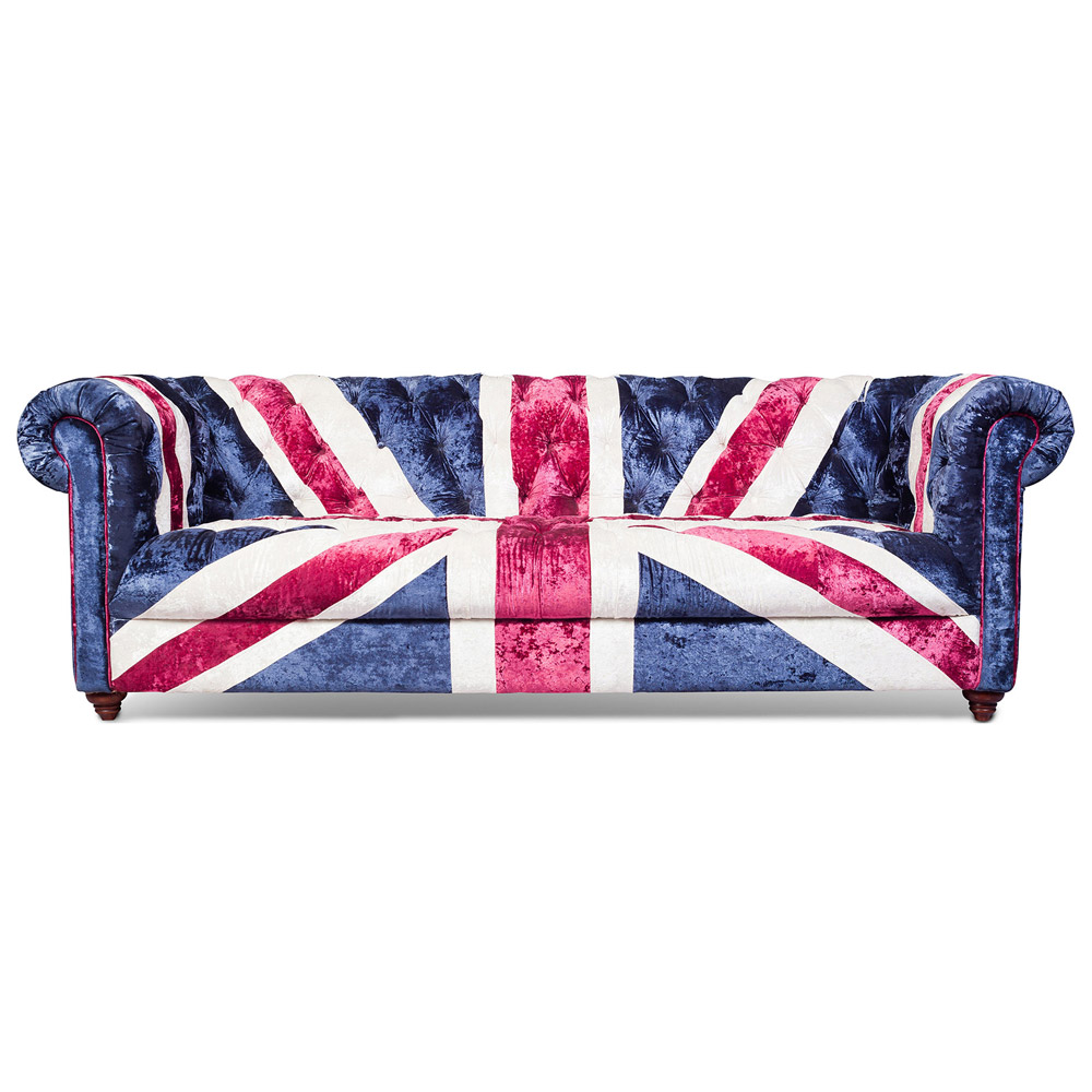 Union Jack Chesterfield Sofa Velvet