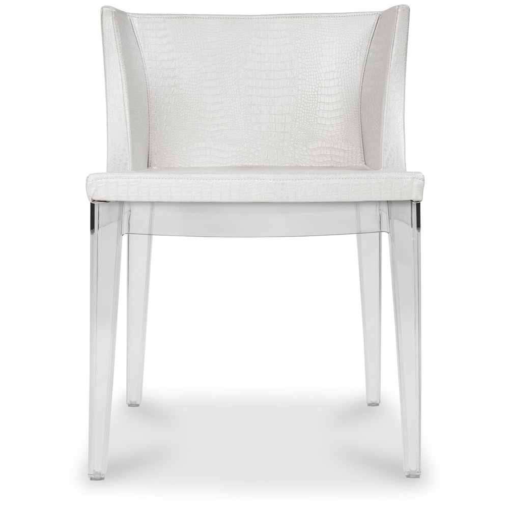 white mademoiselle chair philippe starck