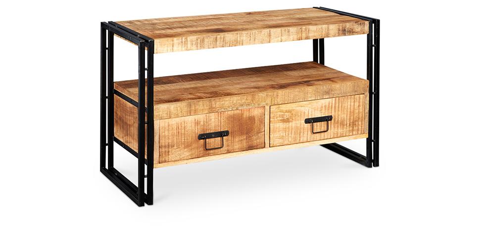 vintage industrial style tv unit. Black Bedroom Furniture Sets. Home Design Ideas