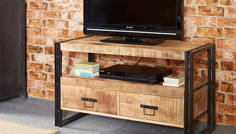 Onawa vintage industrial style TV unit