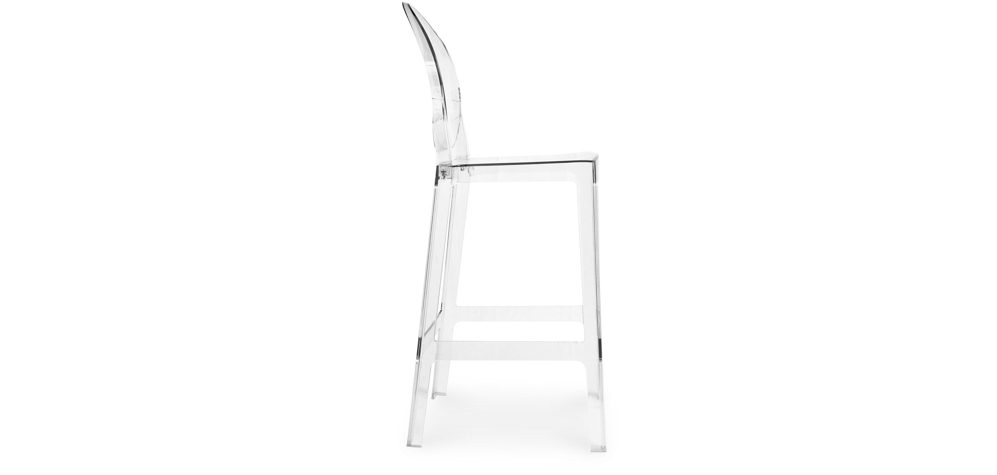 with size full splendid crystal replica chairs starck kartell bar chair back agreeable transparent ghost height of counter in charles philippe stool tear your