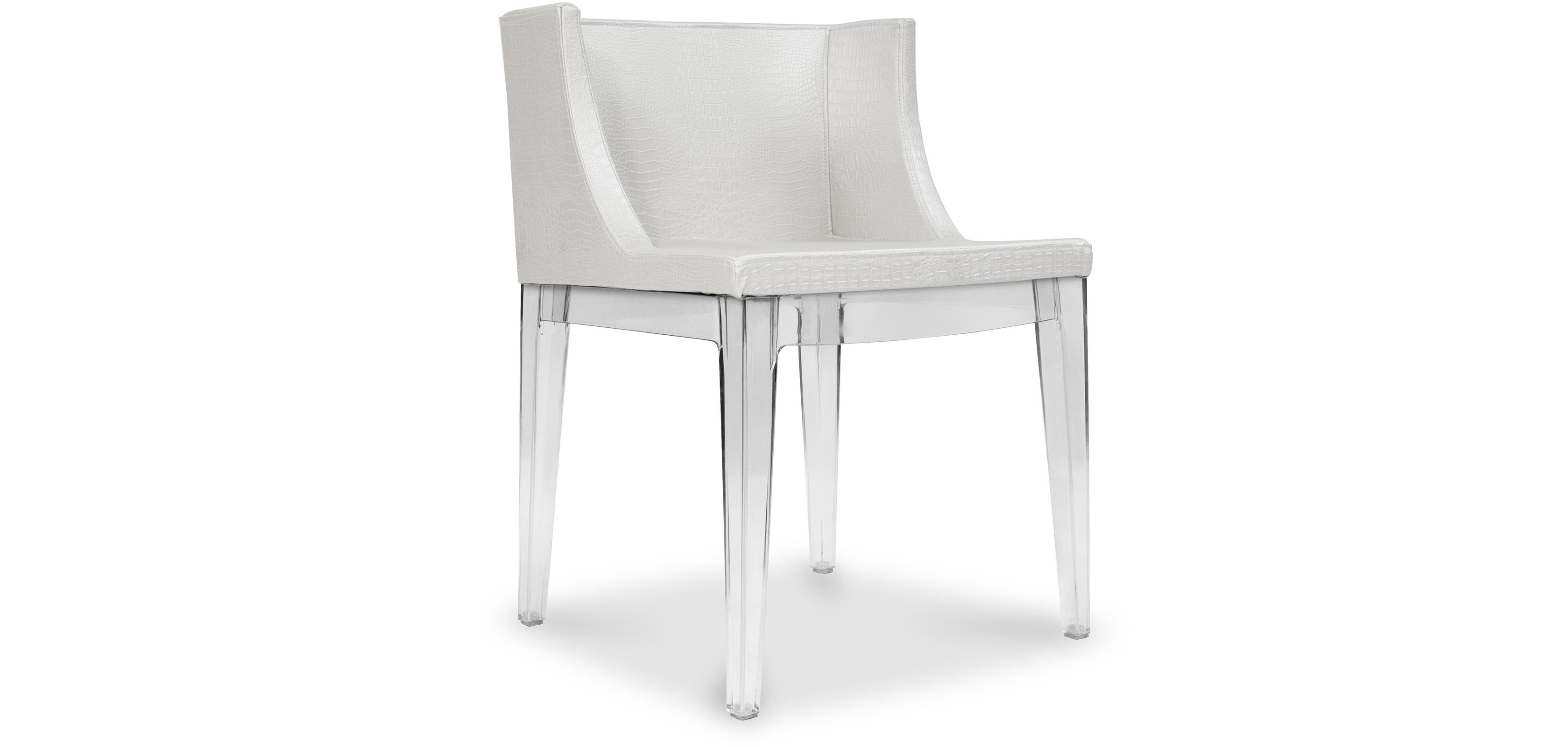 White Mademoiselle Chair Philippe Starck