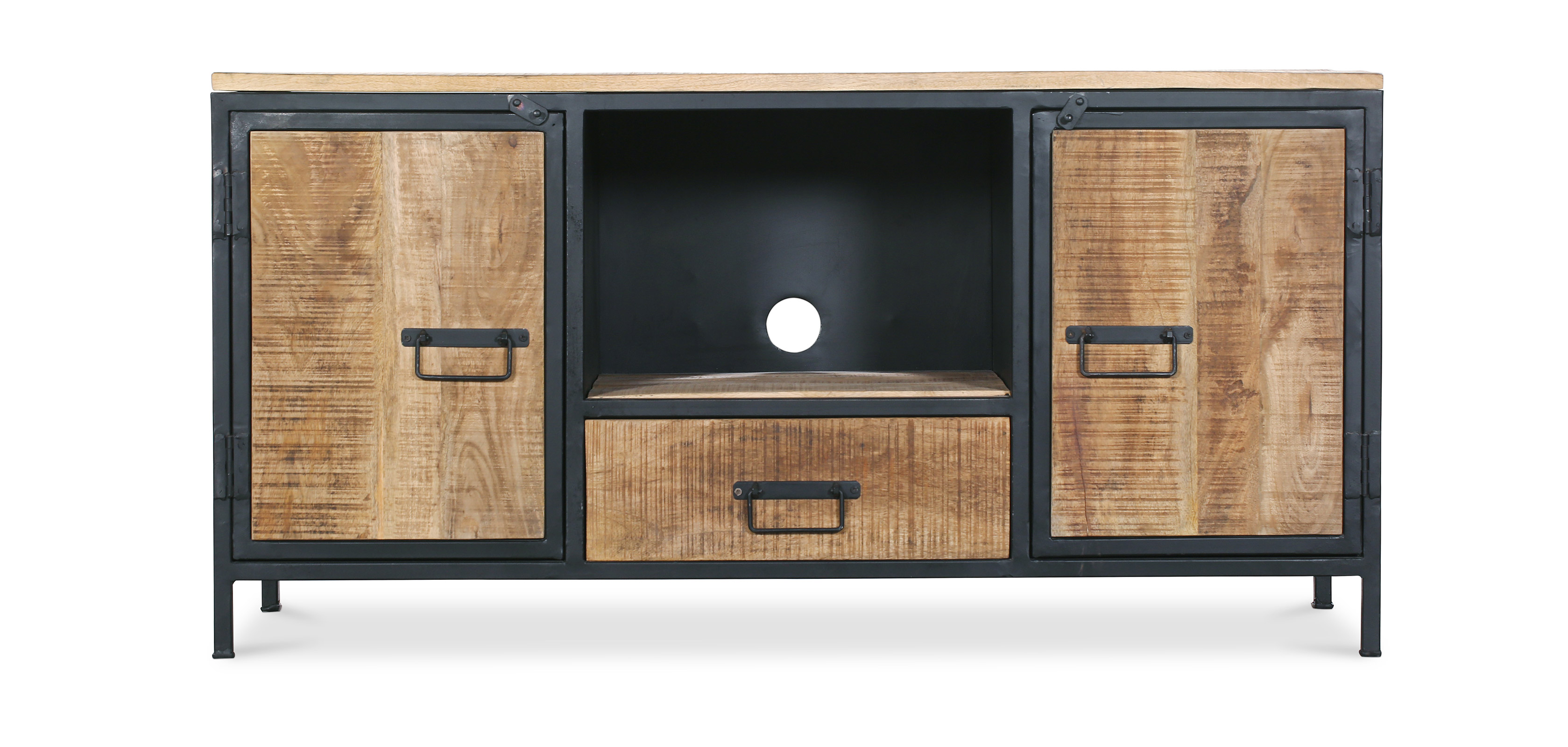 Onawa Vintage Industrial Style Metal Tv Cabinet
