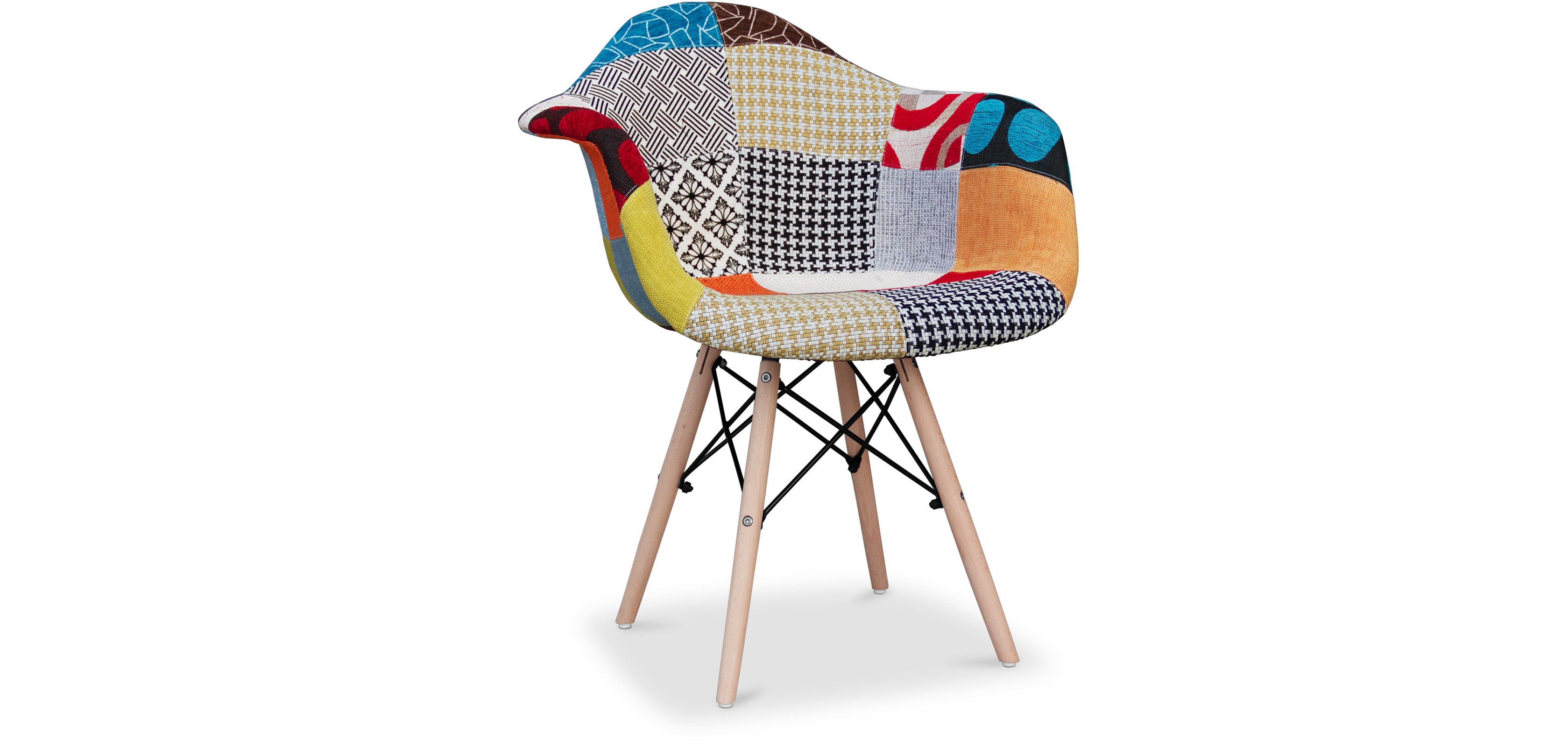Daw chair charles eames patchwork amy for Chaise charles eames patchwork