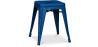 Buy Tolix Style Stool 45cm - Metal Dark blue 27809 at MyFaktory