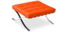 Buy City Ottoman - Premium Leather Orange 58377 - in the UK