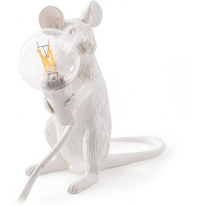 Buy Mouse table lamp - Resin White 58832 - in the UK
