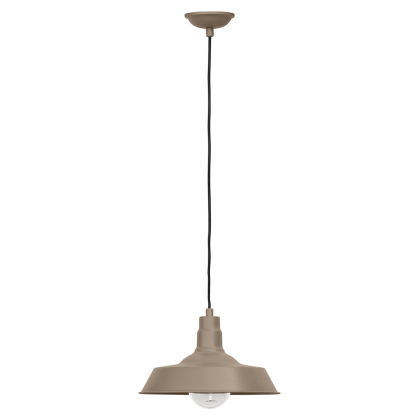 Buy Edison Colored Lampshade Pendant Lamp - Carbon Steel Brown 50878 in the United Kingdom