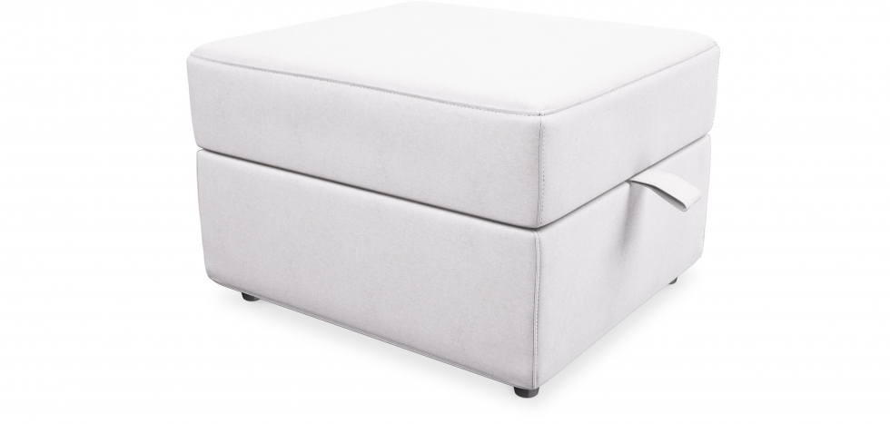 Buy Fabric puf with storage - Otto White 58769 - in the UK