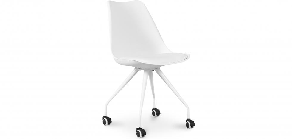 Buy Scandinavian Office chair with Wheels  - Dana White 59904 - in the UK