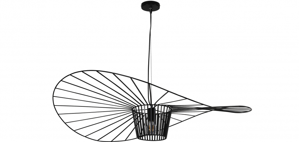 Buy Hanging Lamp Vertice - Metal - 100cm Black 59905 - in the UK