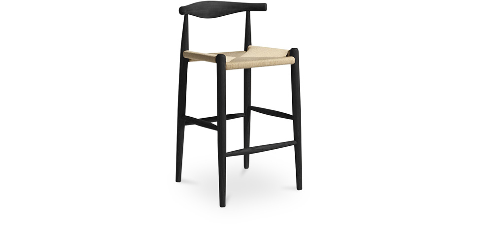 Buy CH-20 Elbow Bar Stool Black 99958406 - in the UK
