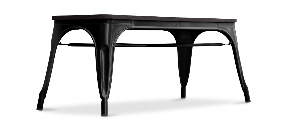 Factory Bench Industrial Style - Black
