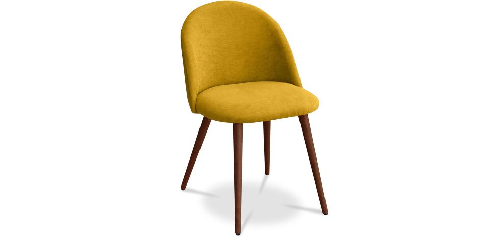 Buy Premium Evelyne Dining Chair - Dark legs Yellow 58982 - in the UK