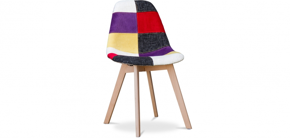 Buy Design Deswood chair - Patchwork Tess Multicolour 59268 - in the UK