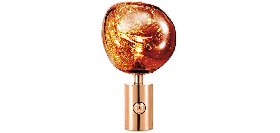 Buy Lava Design table lamp - Acrylic and metal Bronze 59485 - in the UK
