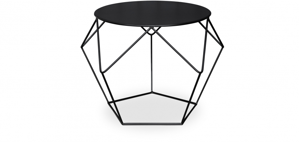 Diamond Side Table - Front View