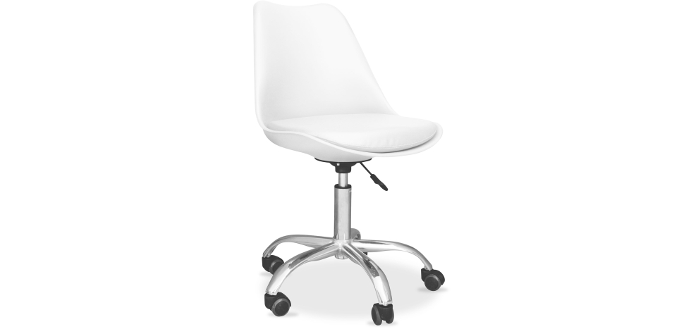 Buy Tulip swivel office chair with wheels White 58487 - in the UK