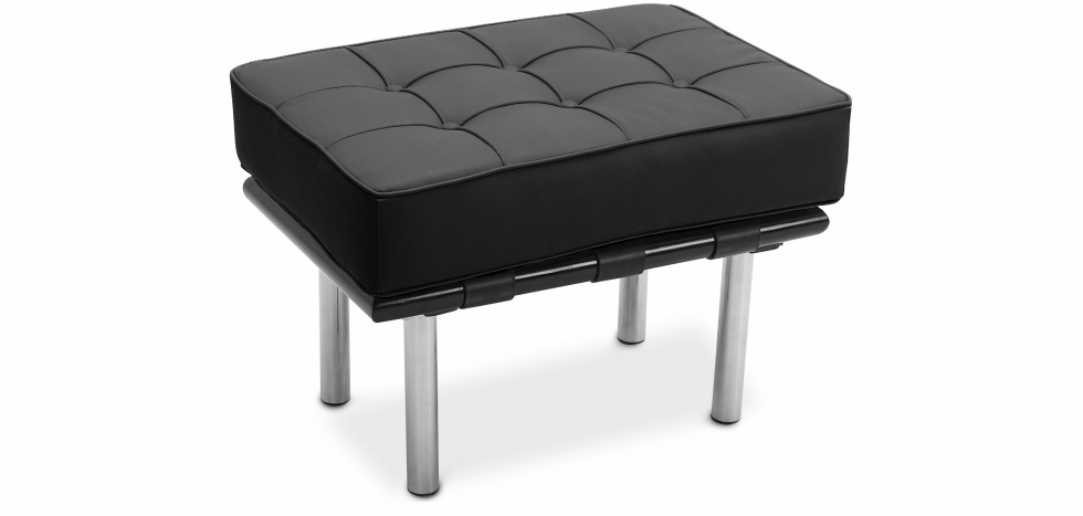 Buy City Bench (1 seat) - Faux Leather Black 15424 - in the UK