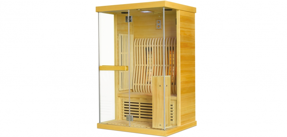 Buy Infrared sauna for 2 people Natural wood 58589 - in the UK