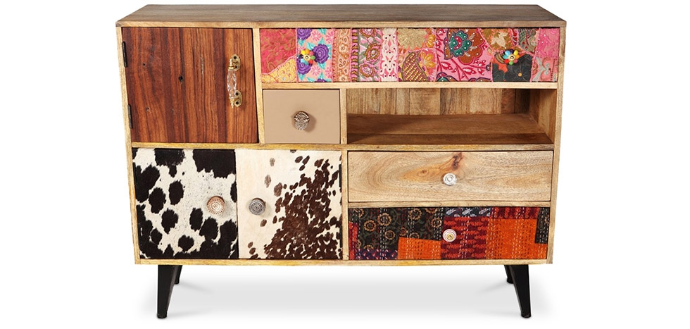 Buy Mady Cow vintage design sideboard Natural wood 58495 - in the UK