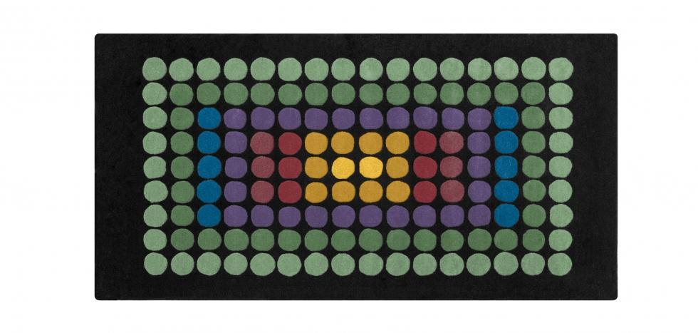 Buy VP08 Square Rug 200 cm Verner Panton Multicolour 21758 - in the UK