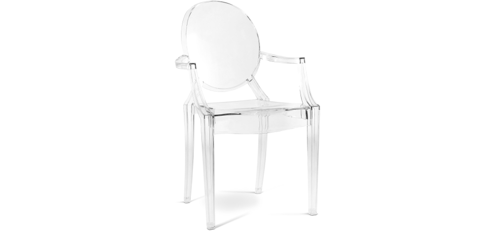 Buy Chair Louis XIV Transparent 16461 - in the UK