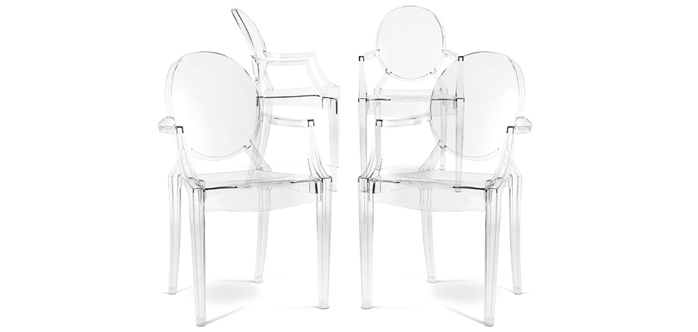 Louis Armchair - Set of 4 - Angled View
