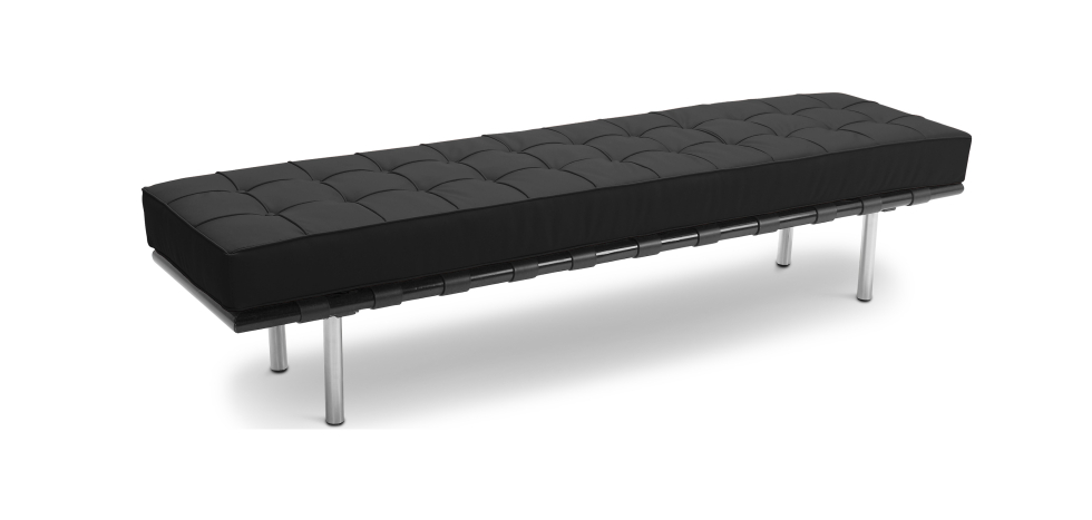 Buy City Bench (3 seats) - Faux Leather Black 13222 - in the UK