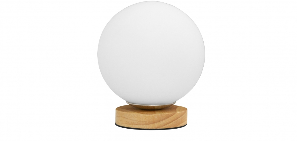 Buy Wooden base globe lamp - Manen Natural wood 59169 - in the UK