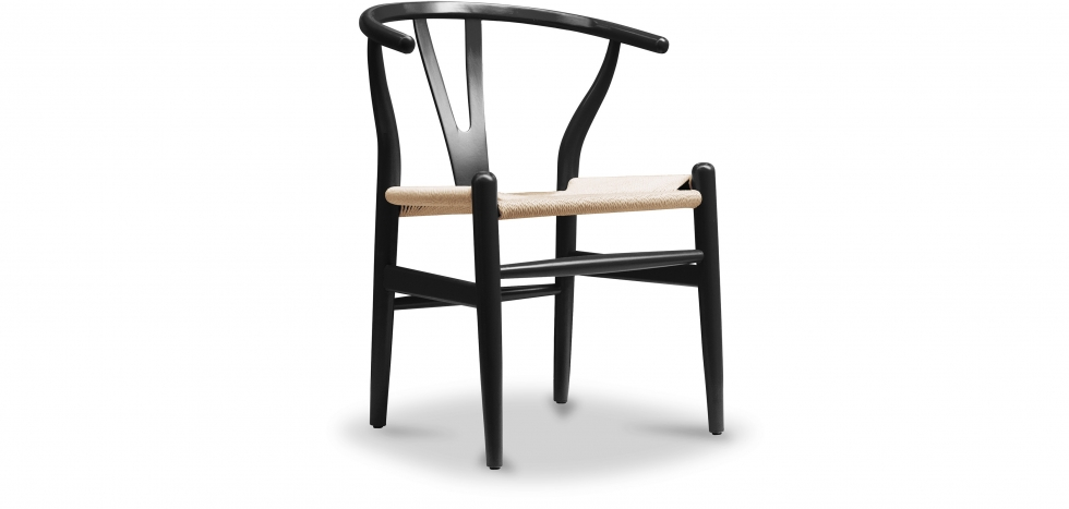 Buy Wishbone chair CH24 Wegner Style Black 16432 - in the UK