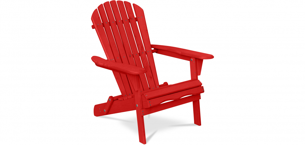 Buy Adirondack Style Garden Chair - Wood Red 59415 - in the UK