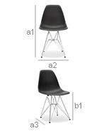 Derwick Chair - PP Matt - Dimensions