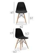 Deswick Chair - PP Matt - Dimensions