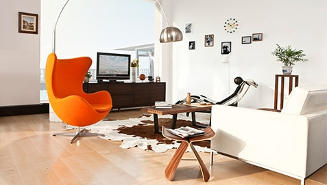 Nordic Stool lyinjg in the living room