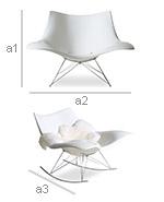 Stin Rarwood Chair - Fiberglass - Dimensions