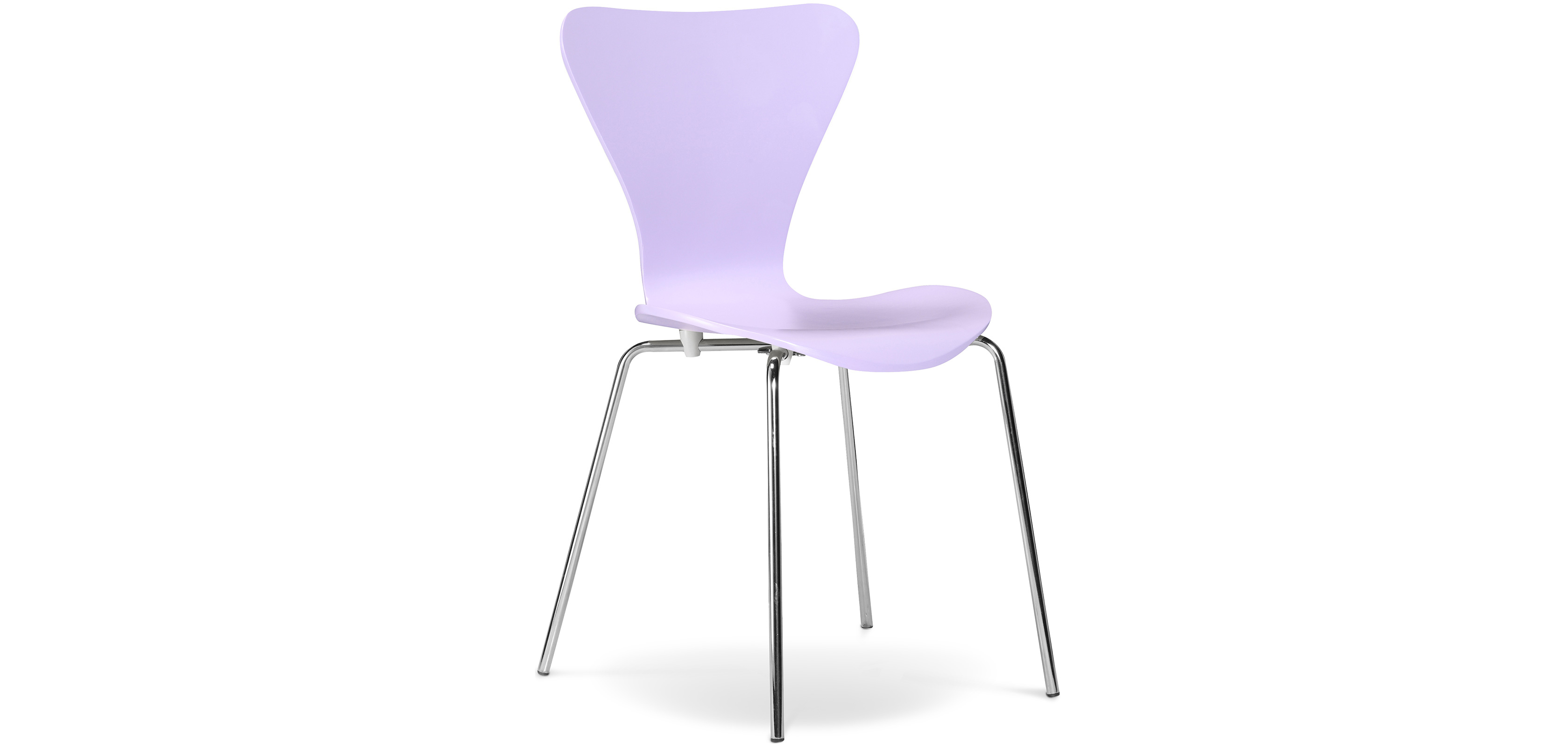 Buy Series 7 dining chair Arne Jacobsen - Wood - Style Mauve 13143 - in the UK