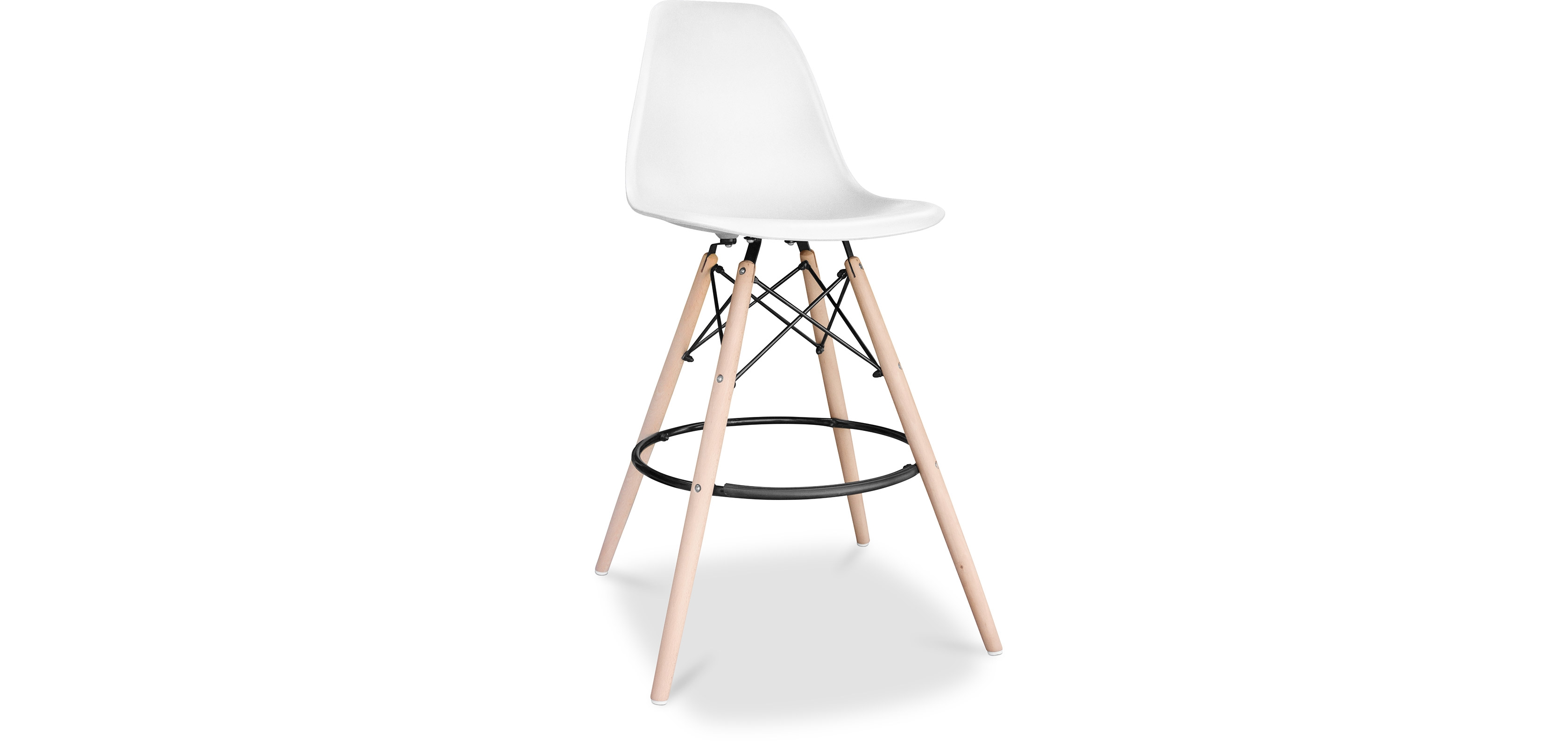 Buy Premium Deswood Bar Stool - Matt White 55755 - in the UK