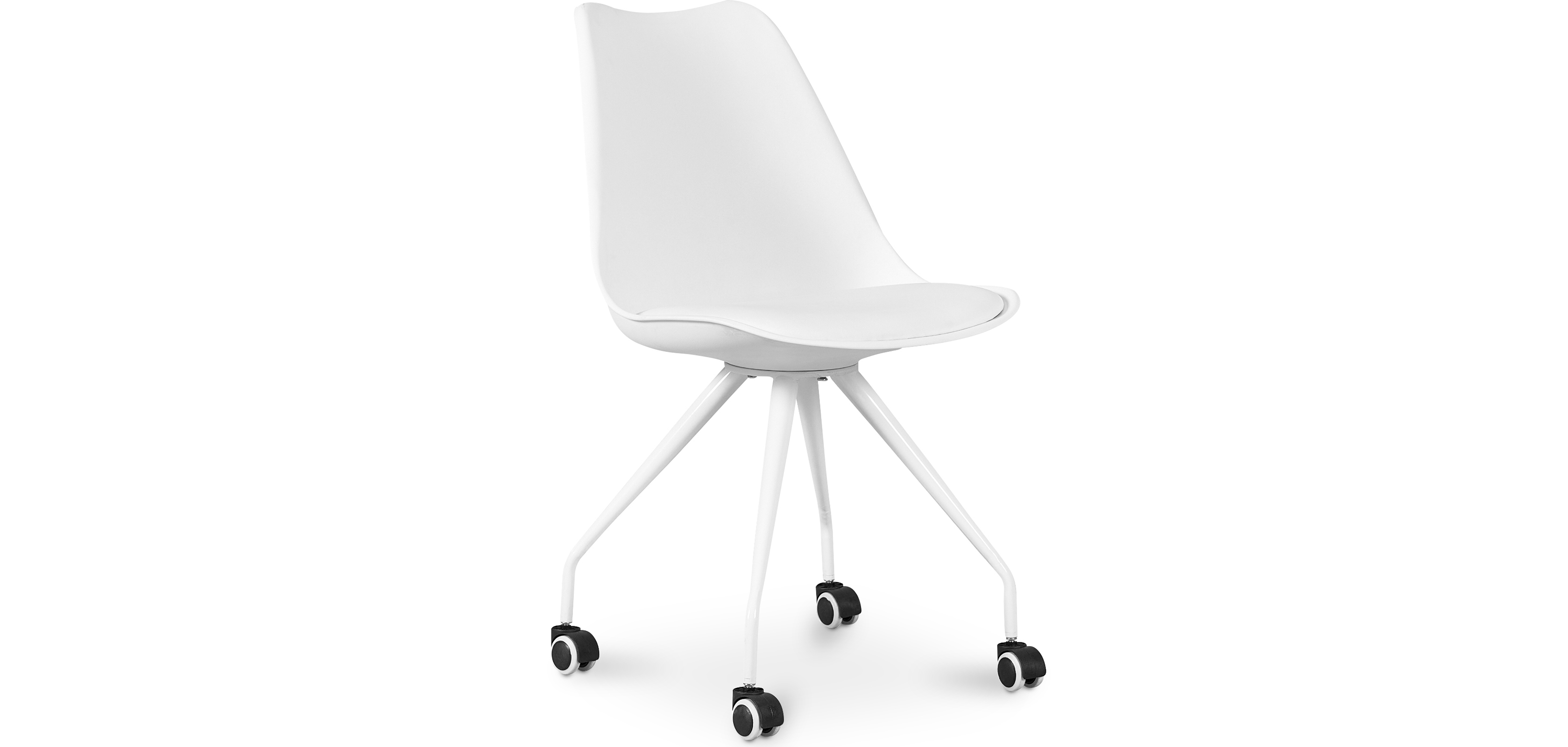 Buy Scandinavian Office chair with Wheels  - Dana White 59904 - in the UK