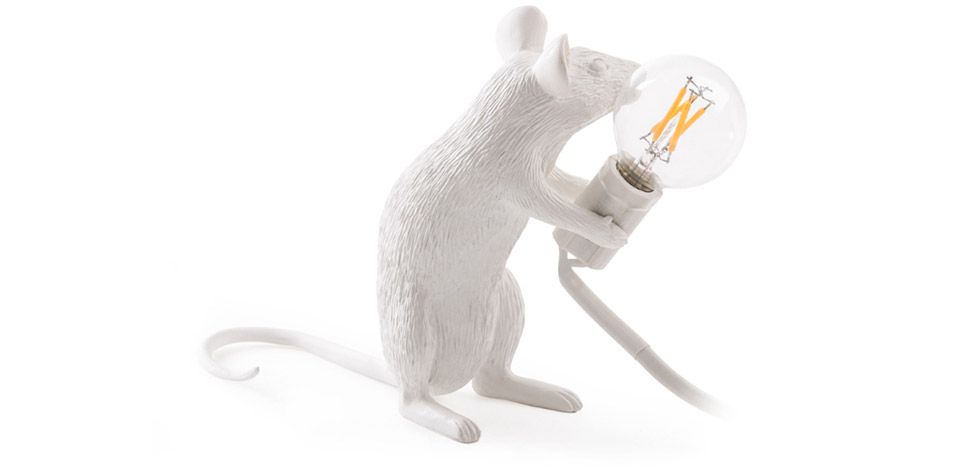 Buy Mouse table lamp Seletti Style White 58832 - in the UK