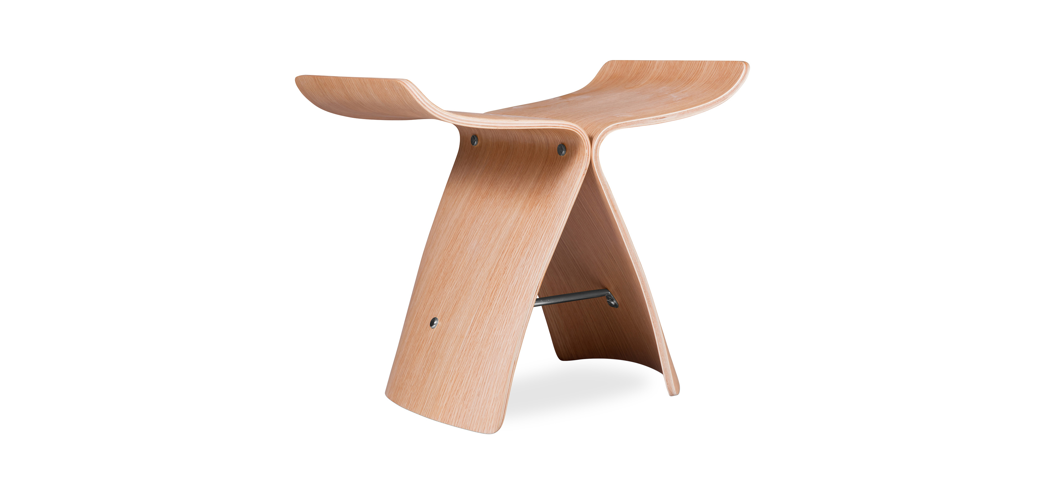 Buy Butterfly Stool Sori Yanagi  Style Natural wood 16833 - in the UK