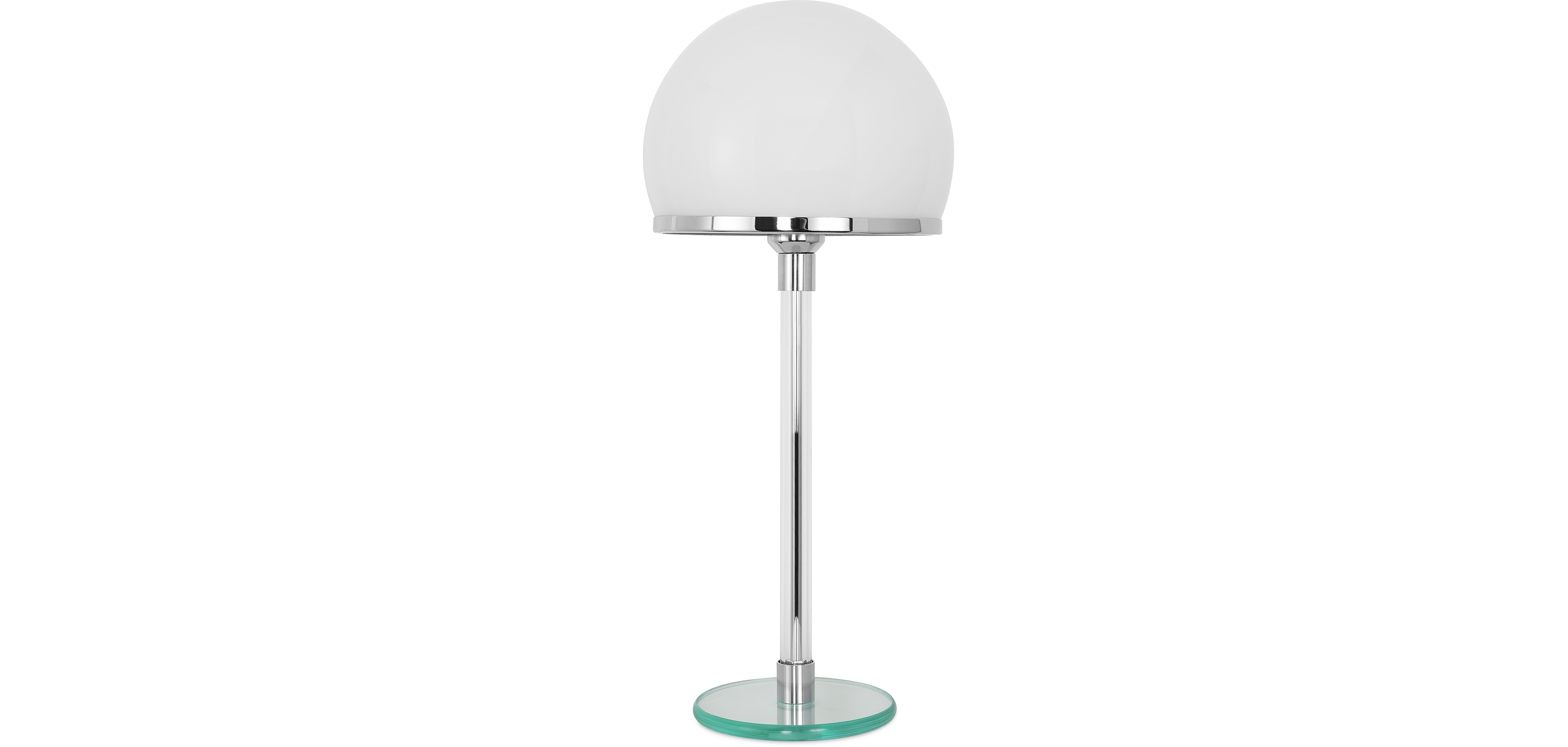 Buy Bauha Desk Lamp - Chrome Copper/Opal Glass White 13292 - in the UK