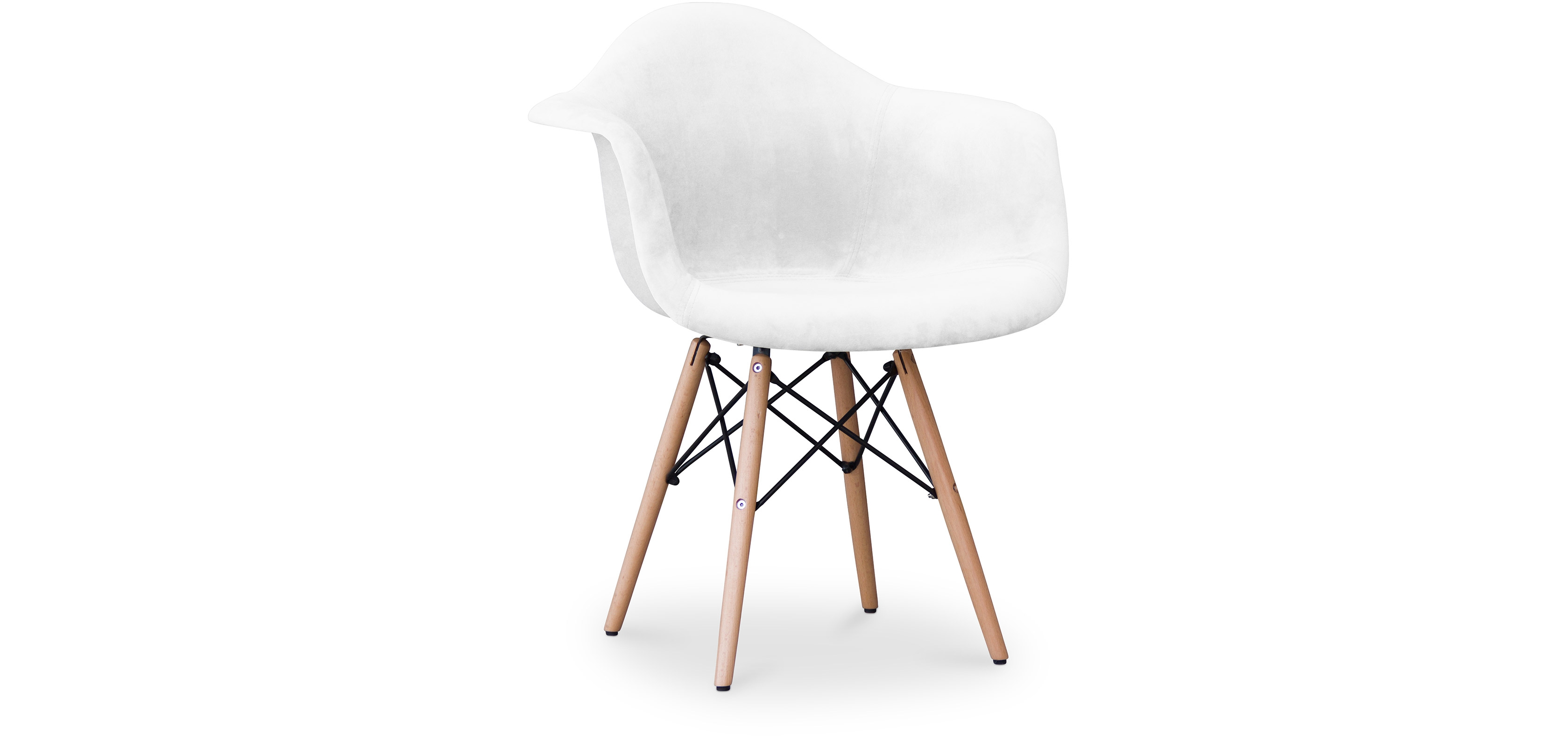 Buy Dawood Chair - Full Fabric White 59032 - in the UK