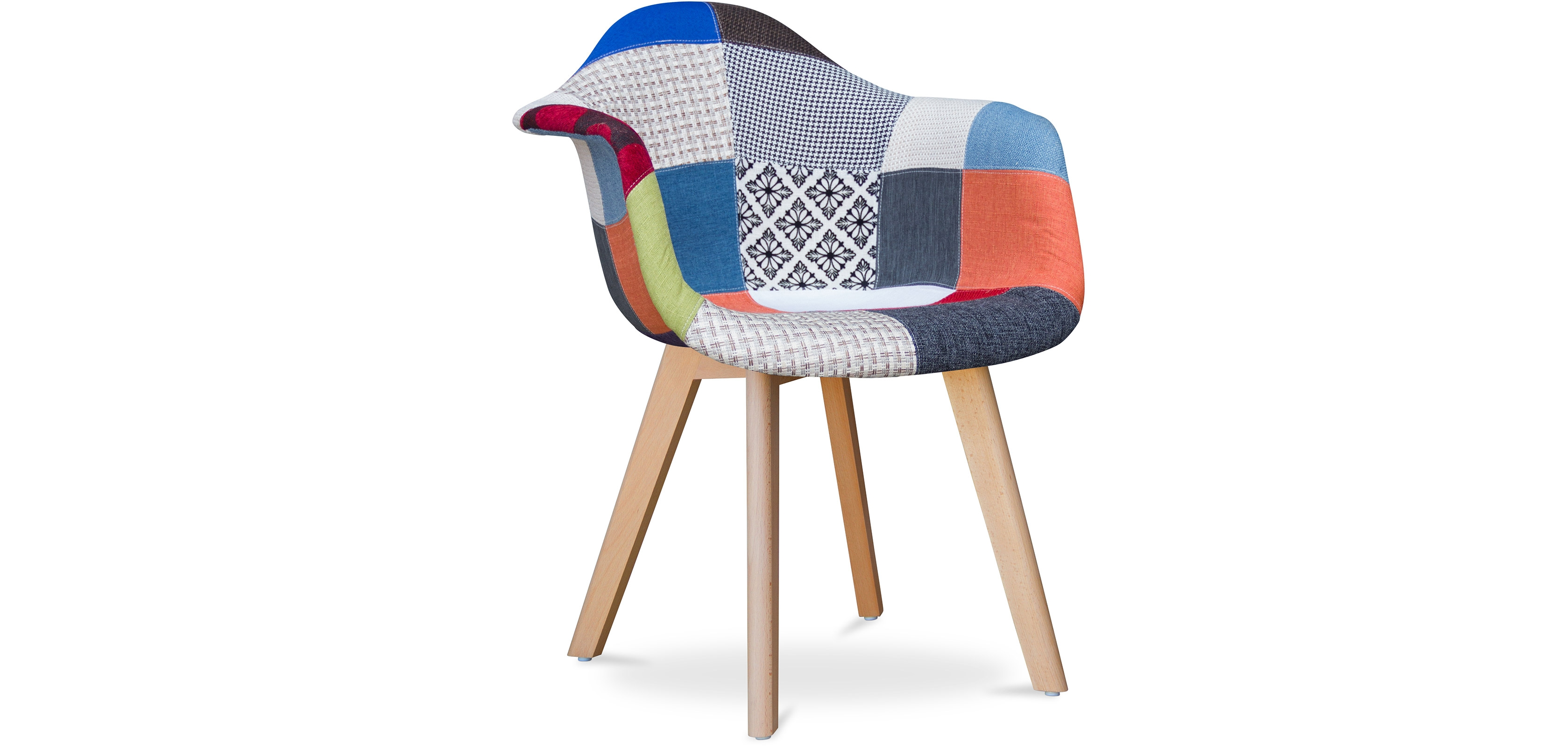 Buy Design Dawood chair - Patchwork Piti Multicolour 59266 - in the UK