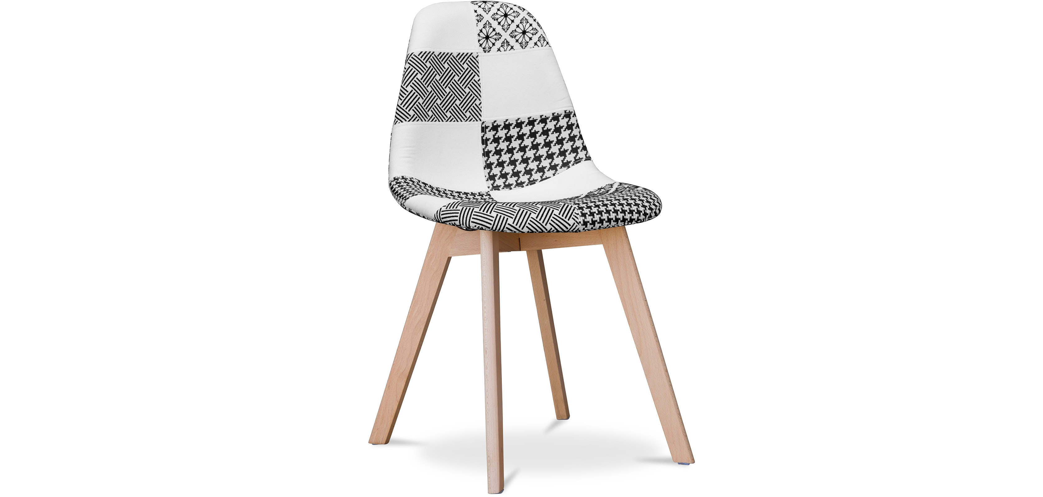 Buy Design Deswood Chair White and black - Patchwork Max White / Black 59270 - in the UK
