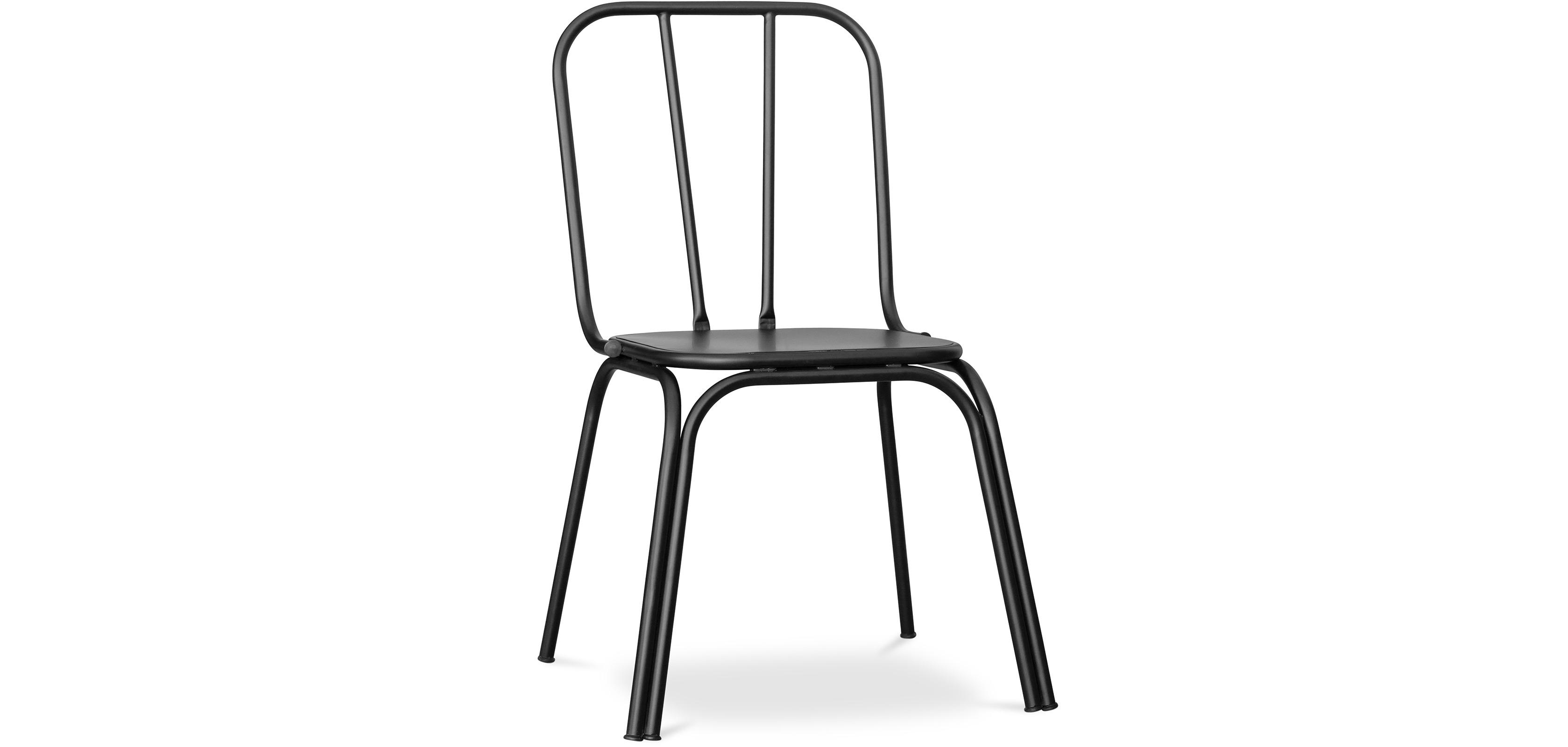 Buy Kira industrial style dining chair - Metal Black 59402 - in the UK