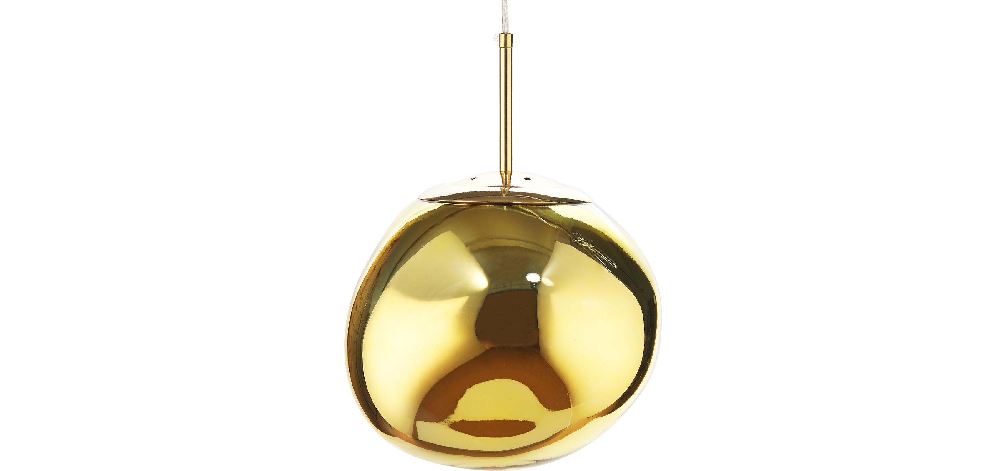 Buy Lava Design pendant lamp - Acrylic  Gold 59486 - in the UK