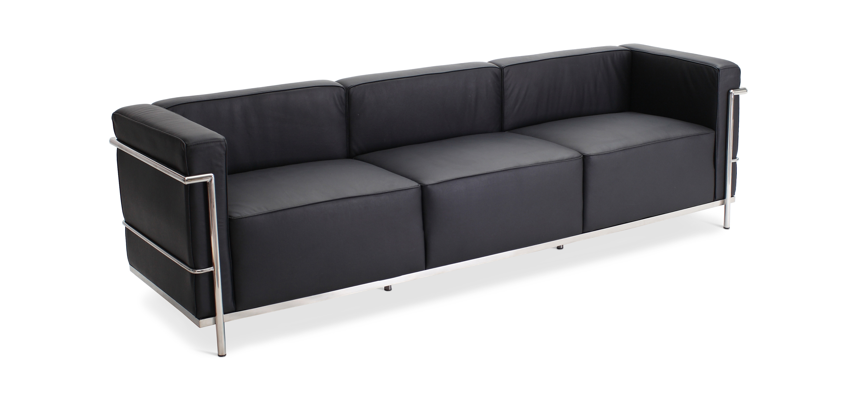 Buy Sofa LC3 Style Le Corbusier Leather Black 13239 - in the UK