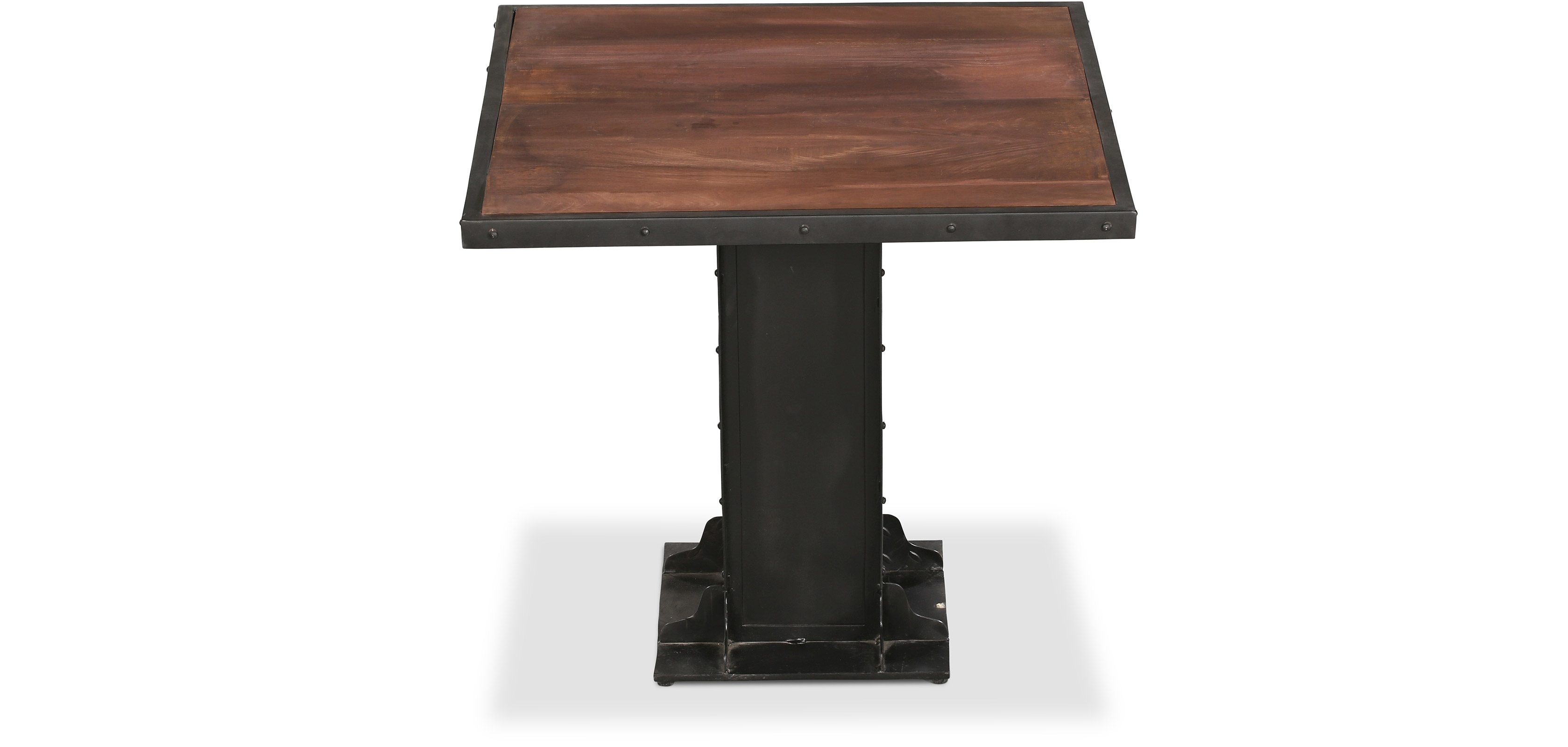 Buy Industrial style metal Square dining table - Avara Steel 58582 - in the UK